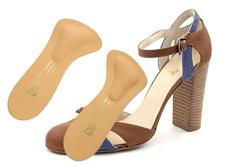 Полустелька профилактическая ортопедическая для использования в открытой обуви на высоком каблуке