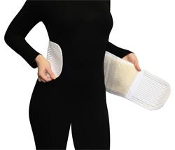 Микромассажный с согревающим воздействием пояс из натуральной шерсти для профилактики остеохондроза и боли в пояснице Тривэс