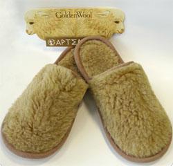 Шерстяные тапочки из шерсти альпака