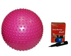 Мяч пупырчатый GB02 55 см в комплекте с насосом