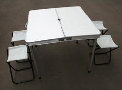 Набор дачной мебели стол пластиковый 4 табурета