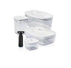 Комплект пищевых вакуумных контейнеров Set4 2,7л + 1,5л + 1,3 л + 0,5л + насос