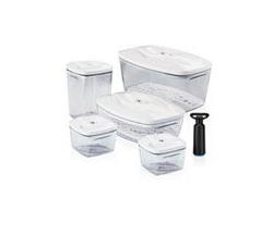 Комплект вакуумных контейнеров для продуктов Set5 2,7л + 1,5л + 1,3 л + 2 по 0,5л + насос