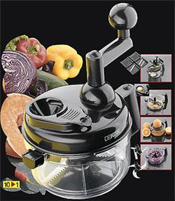 Кухонный комбайн механический многофункциональный 9 в 1 Dekok UKA-1108