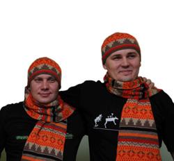 Согревающий шарф из верблюжей шерсти
