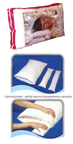 Регулируемая анатомическая подушка Комби Релакс