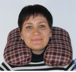 Подушка для путешетствий из гречки
