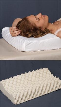 Ортопедическая латексная подушка с массажным эффектом (высокая)