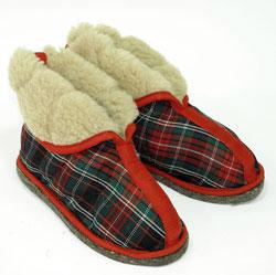 Тапки закрытые домашние овечие Шотландские (женские)