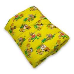 Одеяло детское 118 см х 118 см классика бязь и меринос