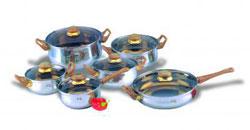 Набор посуды из нержавеющей стали (12 предметов) ИРХ1202