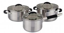 Набор посуды из нержавеющей стали (6 предметов) ИРХ1235