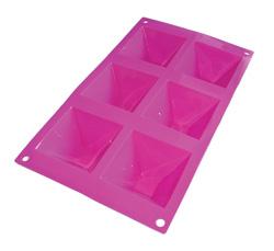 Форма для выпечки силиконовая 6 пирамидок