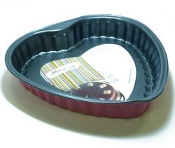 Форма для выпечки металическая в форме сердца (цветная)
