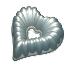 Металлическая форма для выпечки сердце (глубокая)