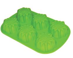 Силиконовая форма для выпечки 6 фигурных мини-кексов
