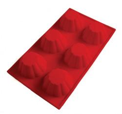 Силиконовая форма для выпечки 6 мини-кексов