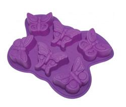 Силиконовая форма для выпечки 6 бабочек