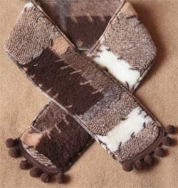 Детский шарфик из овечьей шерсти (кантри темный)