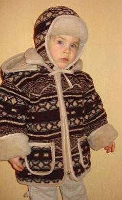 Шерстяная детская куртка Аляска (верблюд)