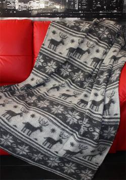 Плед из верблюжей шерсти Лапландия
