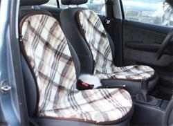 Мериносовая накидка на сидение в машину