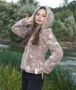 Жакет (с капюшоном) из мериносовой шерсти Осень