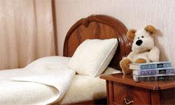 Одеяло из овечей шерсти детcкое Меринос Локон