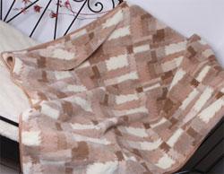 Плед овечий двухспальный Кантри Светлый 180х200