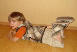 Согревающие домашние сапожки для ребенка