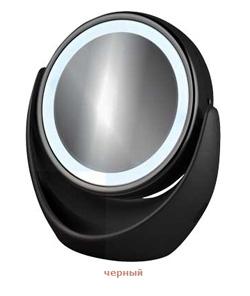 Настольное зеркальце для макияжа 2649 черное