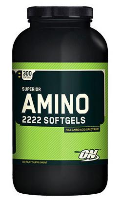 Спортивные аминокислоты Amino2222 SoftGels Оптимум Нутришн 300 гелевых капсул
