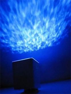 Проекционный светильник с проекцией волн океана