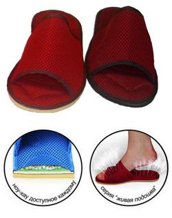 Домашние тапки для профилактики продольного и поперечного плоскостопия