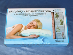 Ароматизированная подушка с натуральной гречневой лузгой для сна