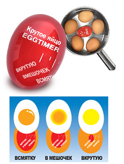 Таймер EggTimer (сколько минут варить яйца всмятку)