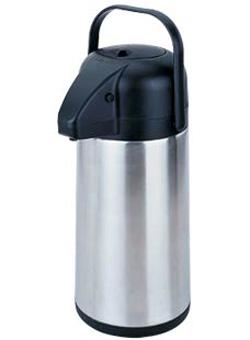 Термос с помпой металлический пищевой вакуумный 2л 200мл производства Чехии
