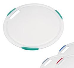 Кухонная разделочная доска круглая пластмассовая антибактериальная Cosmo 24 см