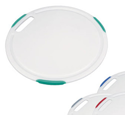 Кухонная разделочная доска круглая пластмассовая антибактериальная Cosmo 30 см