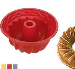 Форма из силиконового материала для приготовления кекса высокая 22 см