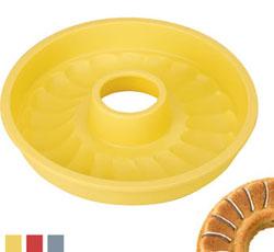 Силиконовая формочка для выпекания кекса венок 24 см