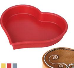 Кухонная силиконовая форма в виде сердца 24х4 см