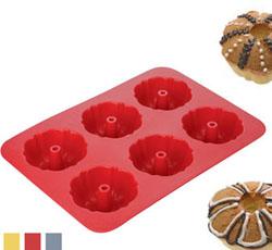 Кулинарная силиконовая форма 6 мини-кексов