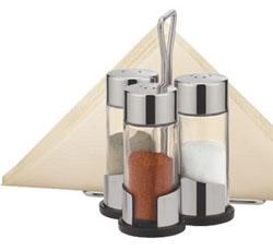 Набор соль, перец, паприка и салфетки CLUB с подставкой
