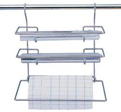 Держатель для фольги и бумажных полотенец на рейлинг 33 см