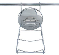 Полка кухонная для крышек рейлинговая