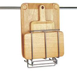 Подставка для 3-х разделочных досок (в комплекте 3 деревянные доски) рейлинговая