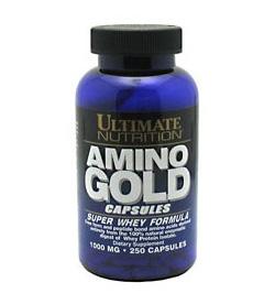 Amino Gold 1000 Ультимейт Нутришн аминокислоты 250 капсул