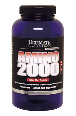 AminoSuper Whey 2000 Ultimate Nutrition аминокислоты 330 таб.